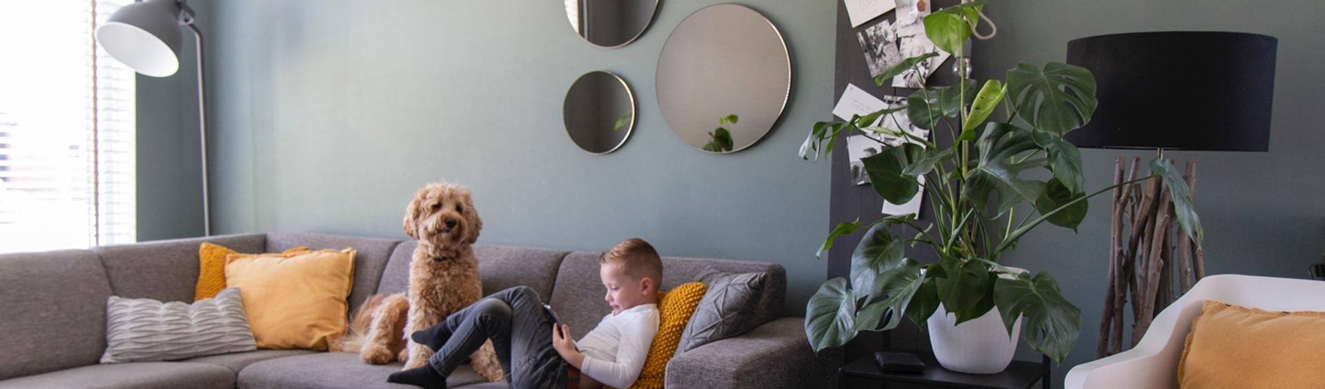 3 round mirrors in home interior