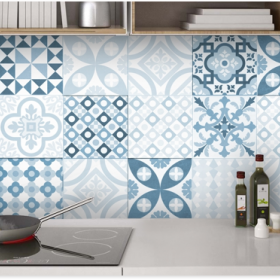 Patterned Backsplash Portuguese Tiles