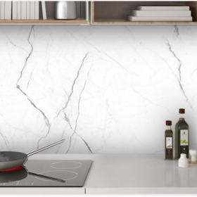 Patterned Backsplash Marble